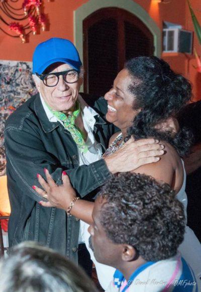 O cineasta Neville De Almeida e a secretária de Cultura, Nilcemar Nogueira