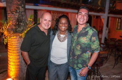 Eder Meneghine, a Secretária de Cultura do Rio de Janeiro, Nilcemar Nogueira e o chef Hugo Oliveira