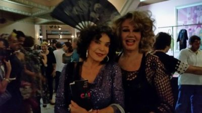 As atrizes Lady Francisco e Jane Di Castro, na estreia do musical Cartola