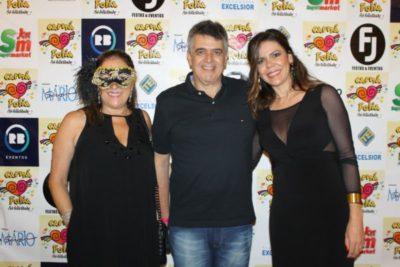 Rose Vilela, o médico José Eduardo Carraro e a advogada Mariane Carraro