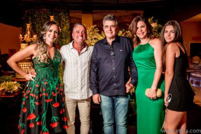 Chris Carraro, José Roberto, o médico José Eduardo Carraro, a advogada Mariane Carraro e a filha Duda Carraro