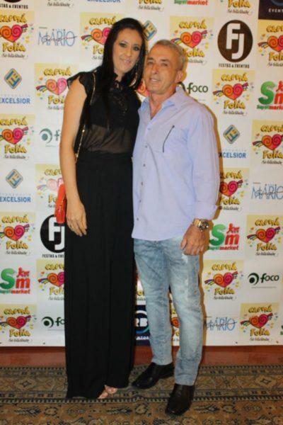 O empresário Elias Batalha e Luciene Santiago