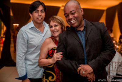 O advogado Renam Maia, a decoradora Márcia Maranhão e o cerimonialista Sandro Henrique