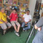 Para divulgar: Primeiro vídeo sobre a Feira Literária foi gravado na Cia do Livro (Foto: Paulo Henrique Nobre/Divulgação)