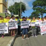 Não à violência contra a mulher: Caminhada reuniu cerca de cem pessoas (Foto: Divulgação)