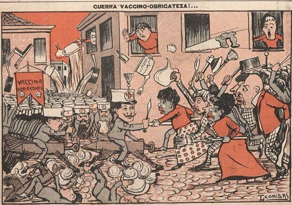 Charge: A revolta da vacina foi satirizada nos jornais da época