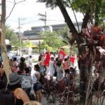Manifestantes se concentraram na Praça Juarez Antunes, em Volta Redonda (foto: Júilio Amaral)