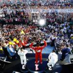 Pódio foi muito comemorado por Vettel na primeira corrida do ano