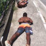 Suspeitos teriam matado um homem a mando do tráfico em Angra (foto: Cedida pela PM)