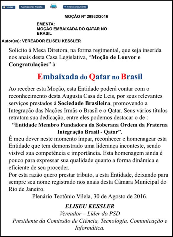 Embaixada do Qatar se revolta com inclusão do seu nome 'em mentira'