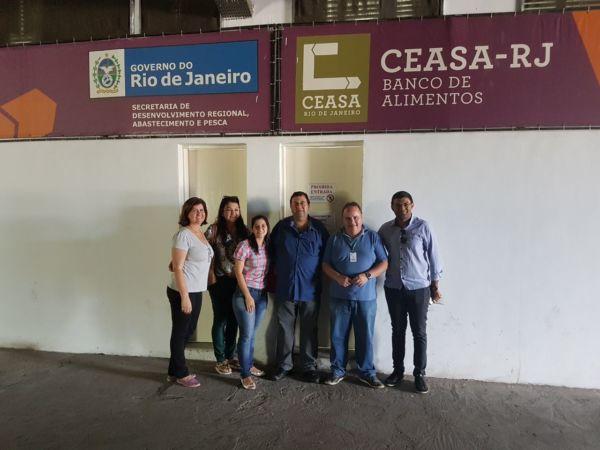 Modelo: Objetivo foi conhecer instalações para futuramente implantar banco de alimentos em Angra dos Reis (Foto: Divulgação/Ascom PMAR)