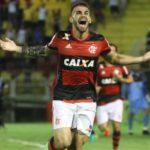 Vizeu marcou no finalzinho e deu a vitória ao Flamengo (Foto: Gilvan de Souza/Flamengo)