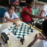 Projeto Xadrez nas Escolas na Escola Municipal Carlos Campos de Faria (foto - PMQ)