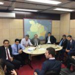 Reunidos: Prefeitos de Barra Mansa, Angra e Rio Claro conversam com diretoria do Dnit, junto com Deley
