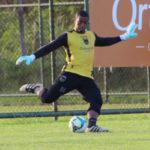 Goleiro: Thiago Leal treina forte; jogador deve assumir a camisa número 1 do Volta Redonda(Foto: Divulgação/Fair Play Assessoria de Imprensa)