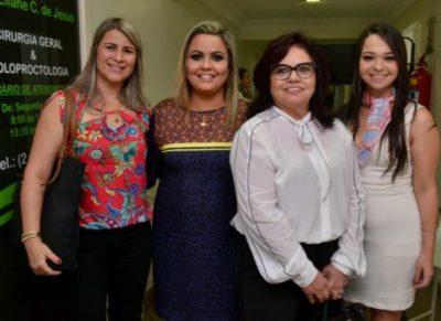 Edilene Seabra, Ana Cristina Mendonça, empresária Cora Monteiro e Eduarda Bayer