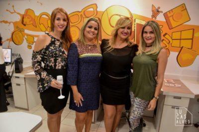 Luciana Carvalho, Ana Cristina Mendonça, Ana Paula Delgado e a empresária Nathalia Fonseca