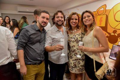 Rafael de Carvalho Neto, Whilder Mendonça, Raquel Tolentino e a empresária Camila Montan
