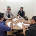 Gothardo conversa com comandante da PM sobre medidas de segurança