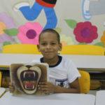 Nathan Siqueira, de 7 anos, do 2º ano do Colégio Municipal Pedro de Souza Rangel.