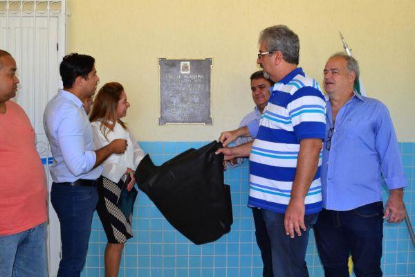 Aberta: Obras da Creche Municipal Helena Figner estavam paralisadas desde janeiro deste ano, quando Mario Esteves assumiu o Palácio 10 de Março (Divulgação/ Ascom PMBP)