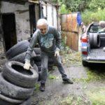 Ação emergencial: Limpeza e retirada de pneus teve como objetivo prevenir doenças (Foto:Paulo Dimas/Ascom PMBM)