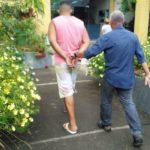 'Suspeito foi preso no Parque Maíra, em Pinheiral (foto: Cedida pela Polícia civil)