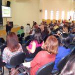Rede municipal de ensino: Primeiro encontro do projeto foi realizado no auditório do CEI e contou com a presença de alfabetizadores (Foto: Chico de Assis/Ascom PMBM)