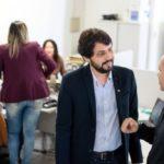 Samuca Silva participou de um café da manhã com os servidores públicos do Departamento de Recursos Humanos (foto: Gabriel Borges - PMVR)
