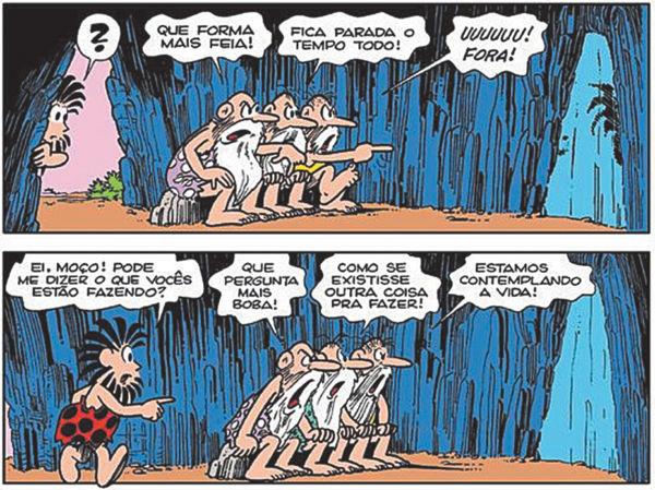 O Mito da Caverna de Platão na versão de Maurício de Souza