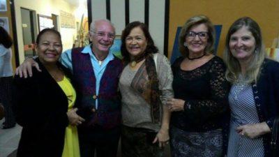 Os artistas plásticos Cida Dantas, Francisco Dantas, Dilma Carvalho, Solange Oliveira e Zenóbia Brandão