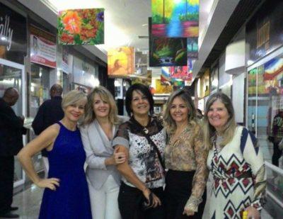 Mirtes Ballod, Adriana Jacob, Dirlene Tavares, Cláudia Jacob e Zenóbia Brandão