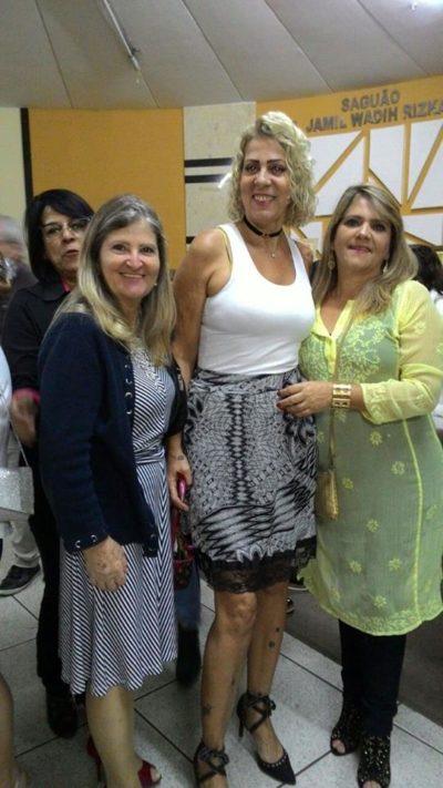 Zenóbia Brandão, Enadié Filgueiras e Simone Storino, na Sessão Solene comemorativa na Câmara Municipal, pelo Dia do Artista Plástico