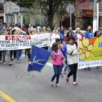 Alerta: Vila Santa Cecília foi o palco da passeata contra a violência sexual infantil em Volta Redonda (Foto: Divulgação/ Ascom VR)