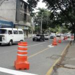 Rua 535: Aterrado ganhou uma ciclovia; medida foi experimental mas grupo de ciclista pretende levá-la ao prefeito (Foto:Júlio Amaral)