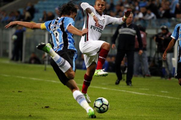 Grêmio saiu na frente jogando em casa (FOTO: NELSON PEREZ/FLUMINENSE F.C.)