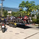 Cinquenta motos foram apreendidas em ação na Rio-Santos, em Angra dos Reis (Foto: Cedida pela PRF)