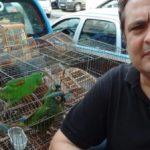 Delegado Marcelo Russo comandou a ação que apreendeu os animais no bairro São Luiz, em Volta Redonda (Foto: Cedida pela Polícia Civil via WhatsApp)