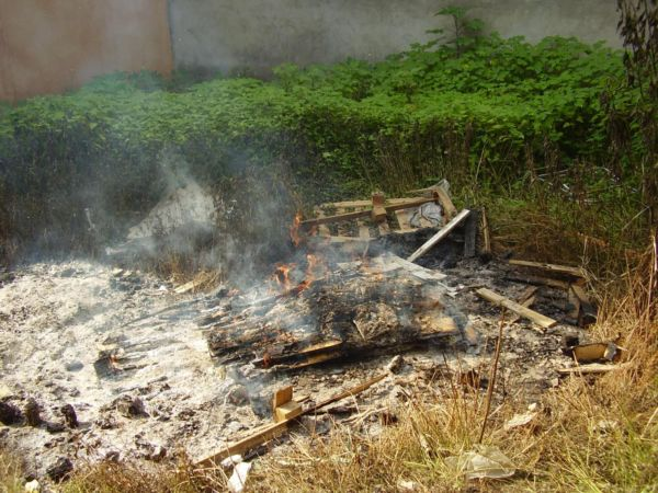 Perigos: Pessoas ainda têm costume de incinerar lixo ou atear fogo em vegetações (Foto: Divulgação/Ascom PMQ)