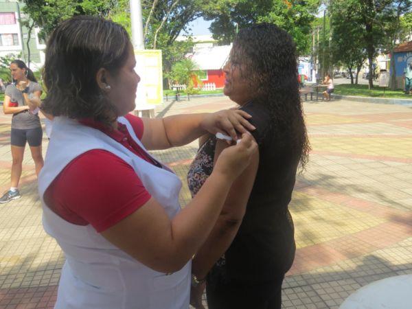 Até agora foram imunizados pouco mais de 20% da meta estipulada para a cidade (Foto: Divulgação PMQ)
