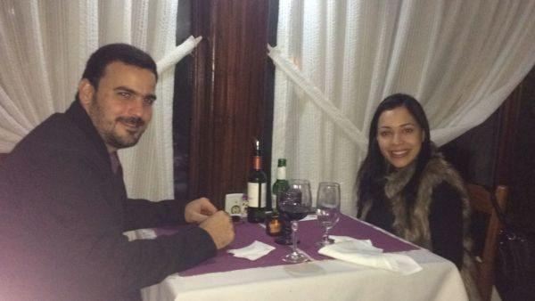 Os empresários Glenda e Rogério Carvalho, no Bistrô Casa Antiga
