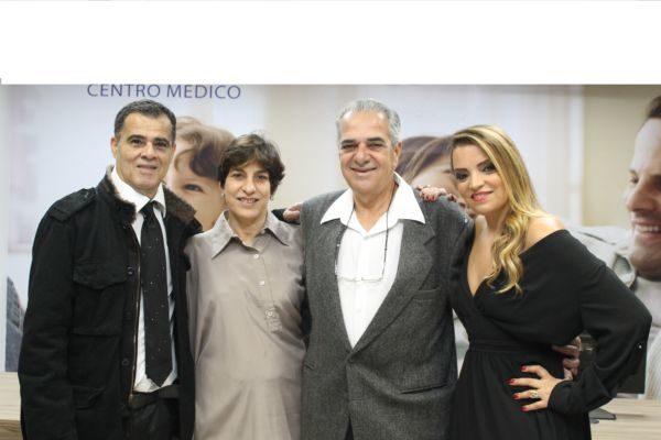 Os empresários Clodoaldo e Silvânia entre os médicos Sílvia e Elson Poubel de Souza