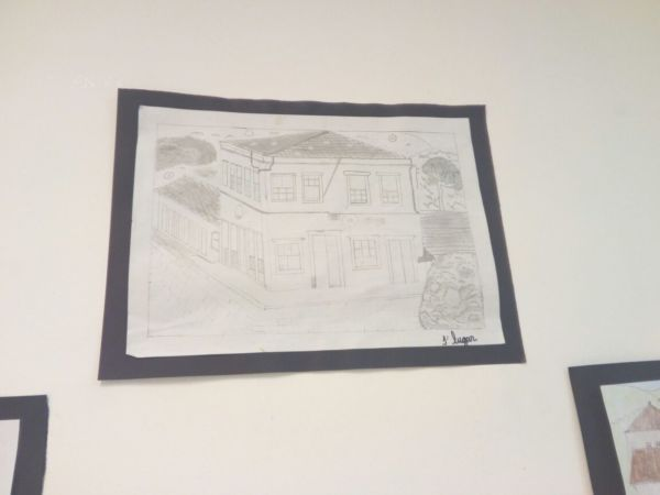 Desenho premiado e feito pela aluna Izabelli (Foto: Divulgação)
