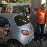 Clientes abasteceram como se não houvesse imposto sobre o combustível
