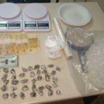 Droga foi apreendida na casa de suspeito de tentativa de homicídio (foto: Cedida pela PM)