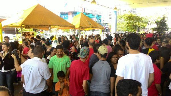 Lota: Ao longo do dia, muitas famílias, crianças, adolescentes e até adultos prestigiaram as atrações