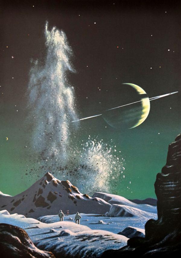 """Mining Operations on Titan"" by David Hardy (1972)"