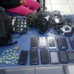 Material foi recuperado pela polícia com trio suspeito de furto