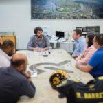 Cidade do esporte: Durante reunião ficou acordado que prefeitura irá promover ações para ajudar no incentivo ao futebol americano em Volta Redonda (Foto: Gabriel Borges / Secom VR)
