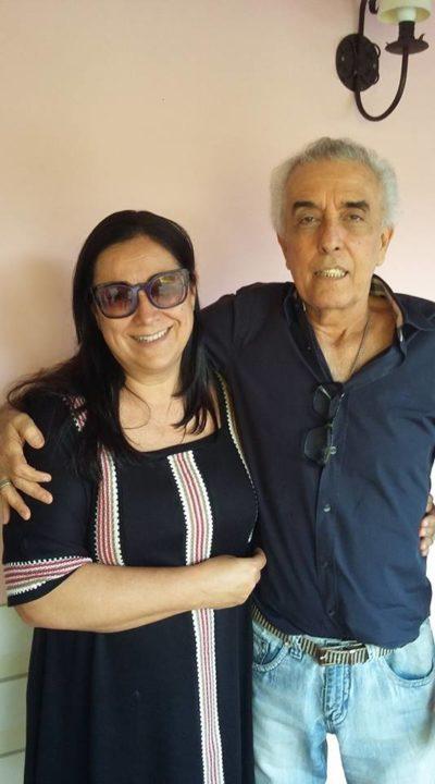 O empresário Ronald Carvalho e sua amada, Carla Carvalho, no Bistrô Casa Antiga